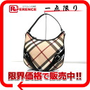 "Burberry Prorsum Super Nova check bag semishoulder beige × black ""response."""