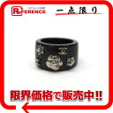 "Chanel 02A Camellia & Coco mark ring No. 13 black ""response."""