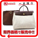 Hermes airbag PM 2WAY shoulder bag refill natural bag with towel Asch x brown gold bracket E ever-s compatible.""