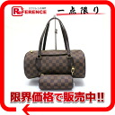 "Telescopic handbag of Louis Vuitton Damier Papillon 30 N51303 pouch mint ""response."""