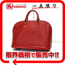 """Alma"" Louis Vuitton EPI leather handbags red M52147 ""enabled."""