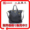 "Prada leather 2 WAY Tote Bag Black ""response."""