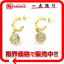 "Louis Vuitton ""Burkle Dray-Buell Uncle John"" earrings gold / clear M65542 ""enabled"""