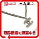 """Chanel 06P CC double chain pendant necklace Silver """"support."""""""