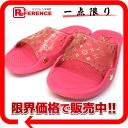 루이비통 모노 그램 여성용 비치 샌들 폴리우레탄 × 비닐 37 분홍색 《 대응 》