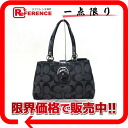 "Coach SOHO signature Tote Bag Black F19253 ""enabled."""