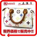 "Louis Vuitton Monogram multicolor ""mini speed"" mini handbag Bron (white) M92645 ""enabled."""