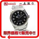 "Rolex Explorer 1 mens watch black letter Edition SS automatic winding 114270 D-s compatible."""