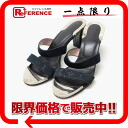"Louis Vuitton Monogram satin mules Sandals 36 Noir ""compatible."""