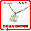 """Chanel 05P rhinestones with Coco make necklaces metal x plastic silver x clear """"response."""""""