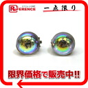 "Chanel 99P rainbow round CC mark earrings Silver ""support."""