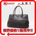"Chanel calfskin tote bag dark brown ""response."""