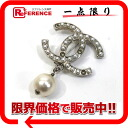 "Chanel 10 V Coco make faux Pearl brooch Silver ""support."""