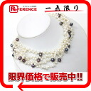 """Recycled jewelry Baroque Pearl 4-necklace White x purple of beauty products """"enabled."""""""