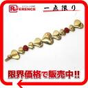 """Louis Vuitton """"bracelet Pasion"""" heart bracelet gold x red M65834 """"enabled."""""""