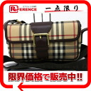 Burberry London Nova check pochet shoulder bag beige x Brown? s support.""
