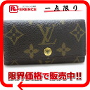 "Louis Vuitton Monogram key holder 4 4 key holder M62631 ""enabled."""