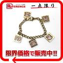 "Chanel 02P plated rhinestone bracelet GP gold * pink ""response."""