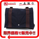 Hermes thereto bathes MM-diagonally over the shoulder bag Navy × Brown? s support.""