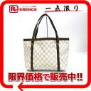 "Gucci nice GG Supreme canvas tote bag beige x Brown 323650 ""enabled."""