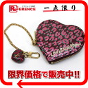 "Louis Vuitton Vernis ""Porto Monet-cool Leopard"" heart-shaped coin purse Rouge fauviste M91474 ""enabled."""