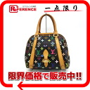 """Priscilla"" Louis Vuitton Monogram multicolor handbags noir (black) M40097 ""enabled."""