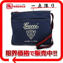 """Gucci logo Crest Sherry canvas shoulder bag blue s correspondence."""""""