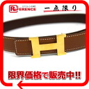 "Hermes minicomputer stance H belt reversible 65 Z 1 gold x brown / gold bracket Z time ""response."""