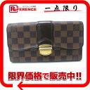 "Louis Vuitton Damier ""wallet Sistine"" zipper long wallet N61747 ""enabled."""