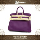 "HERMES ""Birkin 25"" Hand Bag Swift Leather Anemone/Gold Metal HW R-Engraved"
