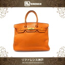 "HERMES ""Birkin 35"" Taurillion Clemence Leather Potiron/Gold Metal HW I-Engraved"