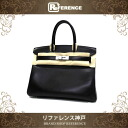 "☆ rare ☆ Hermès's handbag Birkin 30 Bock scarf black x silver fittings (fittings Grosch) R time ""response."""