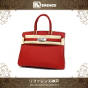 "HERMES ""Birkin 30"" Hand Bag Epsom Leather Rouge Casaque/Silver Metal HW S-Engraved"