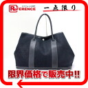"Hermes garden party PM tote bag toil Office Yale black H engraved ""response."""