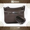 """HERMES """"Jypsiere 28"""" Shoulder Bag Taurillion Clemence Leather Cafe/Silver Metal HW N-Engraved"""