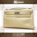 "Hermes ""pochettkelly"" handbags Chevre bronze silver metal I carved ""response."""