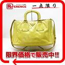 "Prada leather handbag-yellow 2-WAY ""response."""