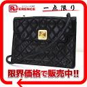 """Chanel lambskin matelasse vintage shoulder bag black """"response."""""""