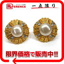 """Chanel 93P CC faux Pearl Earrings gold """"support."""""""