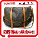 "Louis Vuitton Monogram shoulder bag ""Saumur 43"" M42252 ""enabled."""