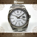ROLEX Date-Just II White Dial Men's Wristwatch SS WG Automatic 116334 Roulette Random