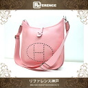 "HERMES ""Evelyne 3"" PM Shoulder Bag Taurillion Clemence Leather Rose Sakura/Silver Metal HW T-Engraved BRAND NEW"