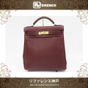 "Hermes ""Kelly Ado GM"" Backpack Bag Taurillion Clemence Leather Rouge H / Gold Metal HW E-Engraved"