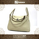 "Hermes Lindy 30 2WAY shoulder bag triyoncremans Pashman silver bracket K engraved translation is ""enabled."""