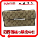 "Gucci METAL BAR (metal bar) GG W hook length wallet beige x Brown 112715 ""response."""