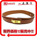 "Hermes Kelly belt 65 Epson gold gold bracket Y inscribed ""support."""