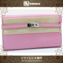 """Hermes Kelly wallet long 2 fold wallet Epson Pink Silver bracket O ever-changing beauty products """"enabled."""""""