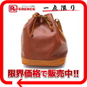 "Louis Vuitton EPI leather by color ""Noe"" DrawString shoulder bag Kenyan Brown × Zipang gold M44028 ""enabled."""