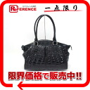 "Like shining crocodile handbag black new ""support."""