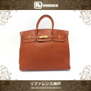 "HERMES ""Birkin 40"" Hand bag Fjord Leather Brique/Gold Metal HW C-Engraved"